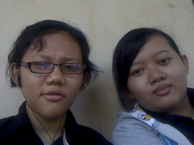 my friend sat next to me, karina